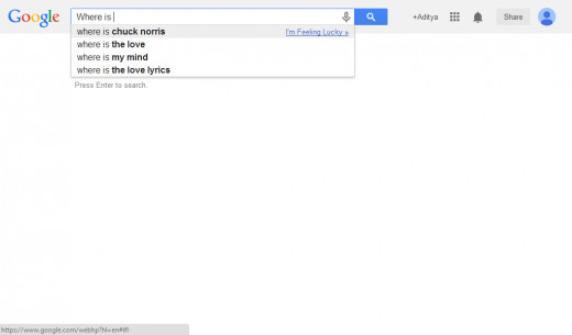 A screenshot of the Google Trick 'Where is Chuck Norris""