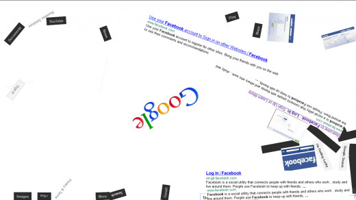 A screenshot of working of Google Trick- Gravity