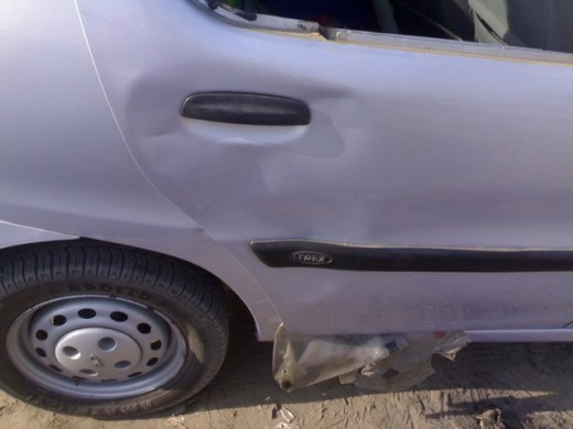 This car has got small dents and can be repaired with dry denting.