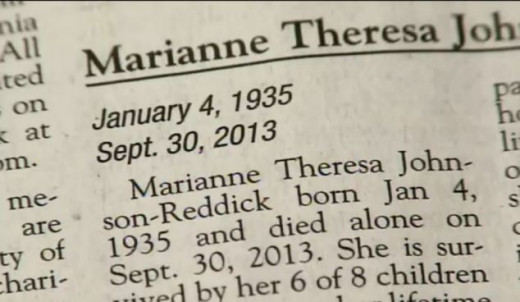 The newspaper obituary with the incorrect date of death, a much talked about detail in the comments on online newspapers