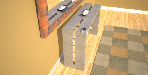 Unique console tables designed and created by Designs by Rudy