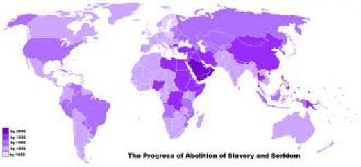Countries involved in abolishing slavery