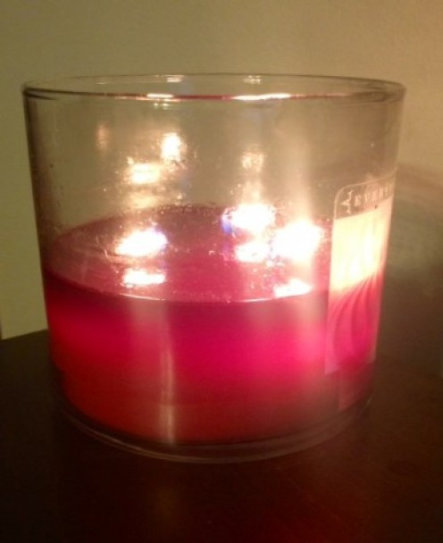 A fun and very pretty candle to burn. Peppermint Meringue - by Everyday Luxe.  A three wick candle.