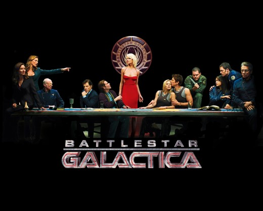 The now classic BSG promo shot