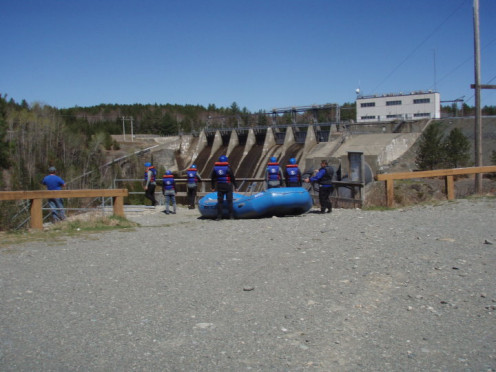 As with every company, you will help carry your raft down a short path to these medal stairs. 2010
