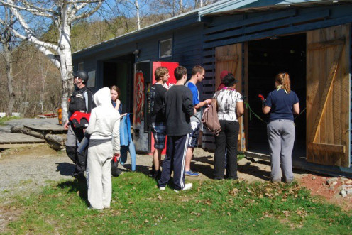 After breakfast, you'll head to the shed to gather your gear. 2010