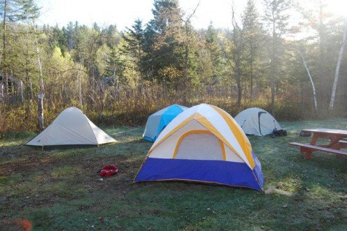 These tents are located across from the cabin tents. The blue and yellow tent is my humble abode. 2010
