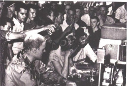 John Salter, Joan Trumpauer, and Anne Moody at the Woolworth's lunch counter in Jackson, Mississippi, May 28, 1963: Soul Force