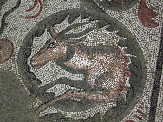 A Roman mosaic. Sicily