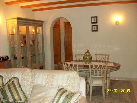 My lounge. See how the table matches the décor and the colour of the doors and beams
