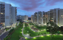 A night time view of our dream complex. The Mantri Tranquil Project.
