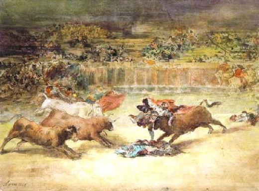 """Escena de Tauromaquia"" Scene of Bullfighting"