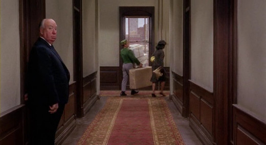 """Hitchcock's cameo in """"Marnie."""""""