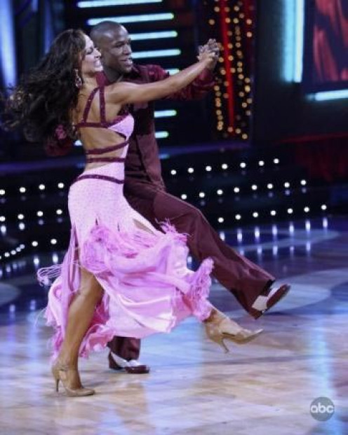 Floyd Mayweather, Jr. Danced with Karina Smirnoff in Dancing with the Stars.
