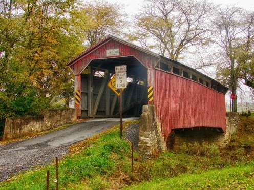 The state is full of covered bridges and other historic installations.