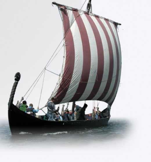 Braendings Slange slips away, out of the clutches of the Jomsvikings