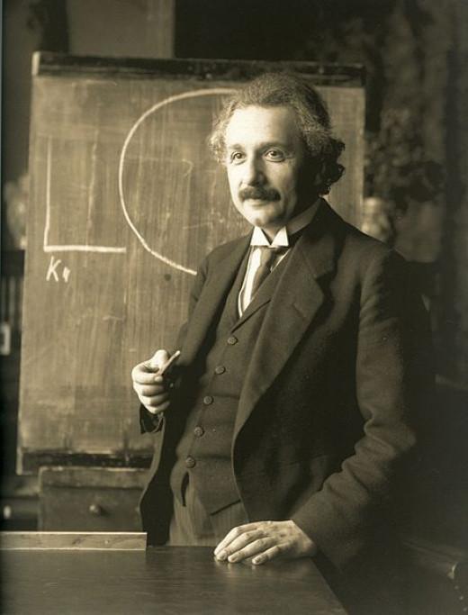 Albert Einstein during a lecture in Vienna in 1921 http://en.wikipedia.org/wiki/File:Einstein_1921_by_F_Schmutzer.jpg