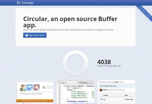 Circular home page