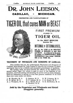 Dr. Leeson's Tiger Oil