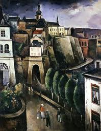 'Luxembourg', 1937, by Joseph Kutter (1894-1941) Oils on canvas, 400 x 320 cm, Musée national d'histoire et d'art, Luxembourg.