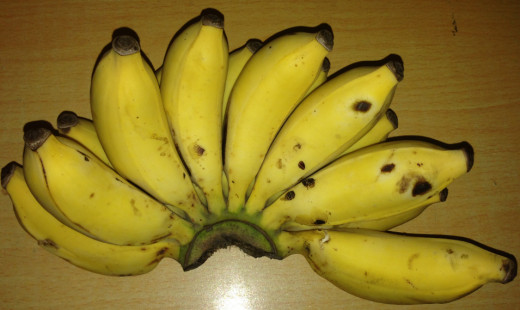 A few fingers of bananas will help reduce acids in the stomach linings