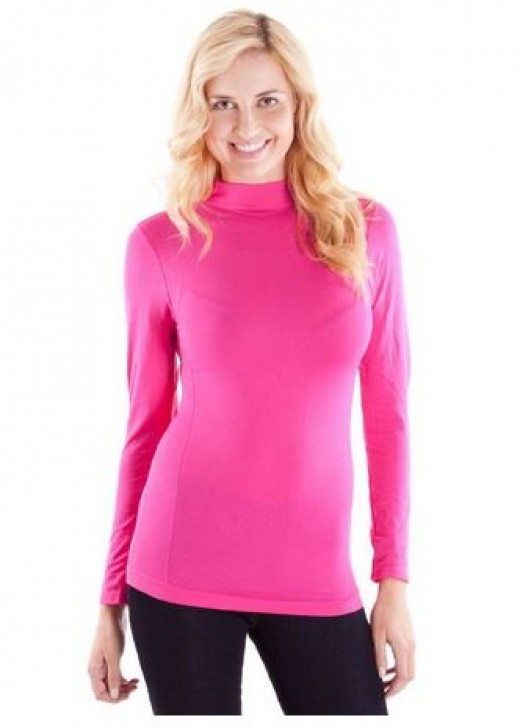 Available at Amazon..Turtleneck Sweater for Women in Pink Color