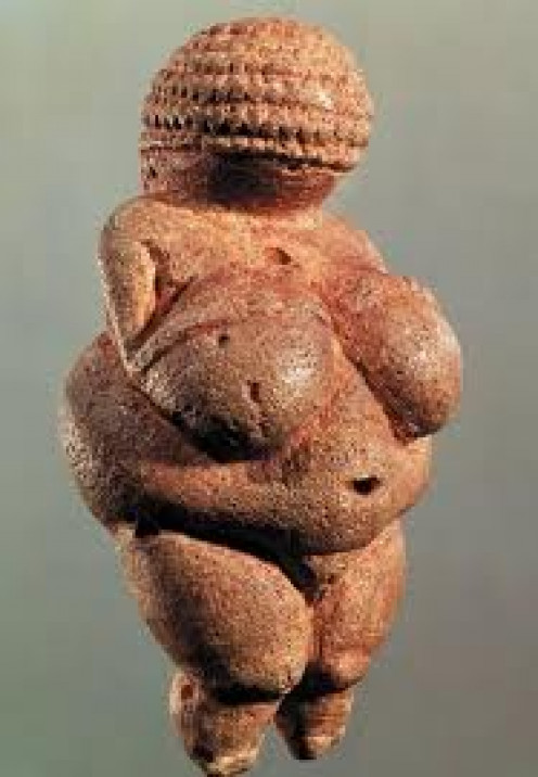 Believed to be created between 25,000 and 28,000 BCE, the Venus of Willendorf is thought to be the first evidence of historic worship of the feminine aspect.