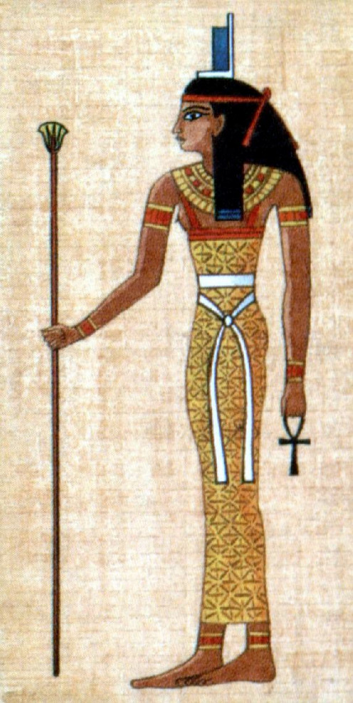 Isis, Egyptian goddess of motherhood and fertility