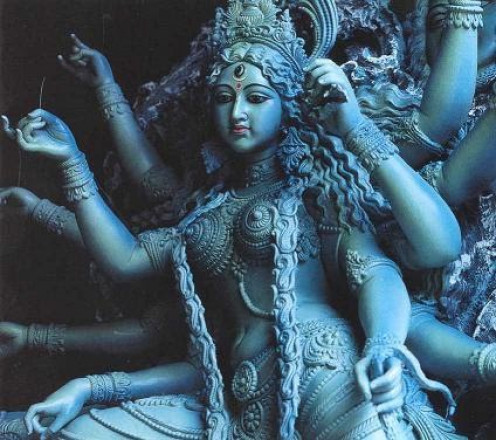 Hindu Goddess, Kali Ma, thought to be both giver and destroyer of life
