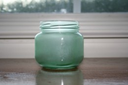 Sea-glass style recycled jar