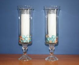 Hurricane glass candle holders