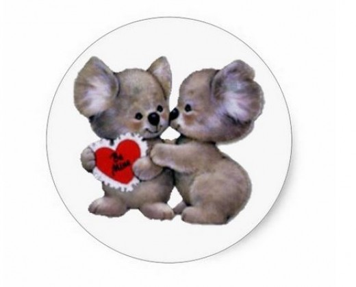 Love these koalas for being so lovable. Get this sticker for your girlfriend at zazzle and get it personalised.