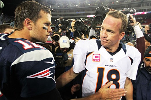 Tom Brady and Peyton Manning will meet for the 15th time in their NFL careers on Sunday