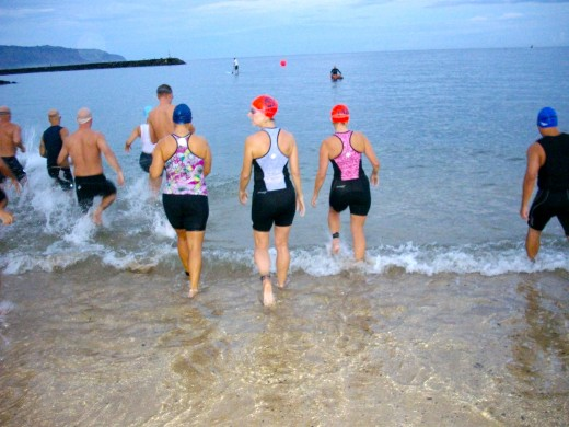 Experienced triathletes know how to pattern their breath.