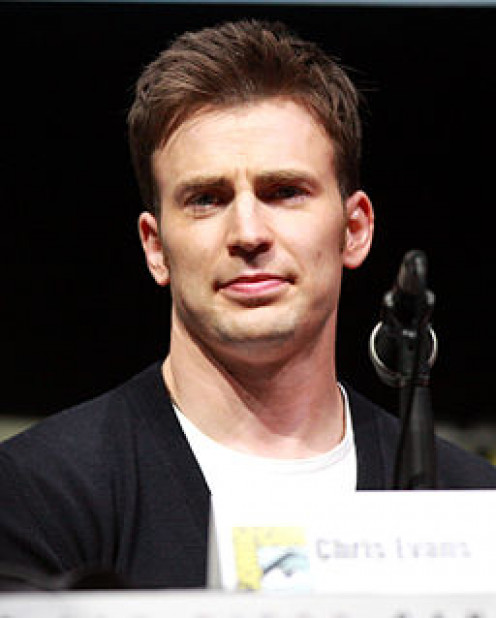 Chris Evans at the 2013 San Diego Comic Con.