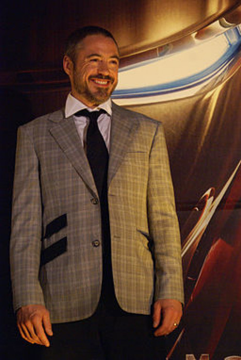 Robert Downey Jr, promoting Iron Man in Mexico City