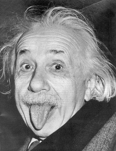 He's certainly no Einstein.
