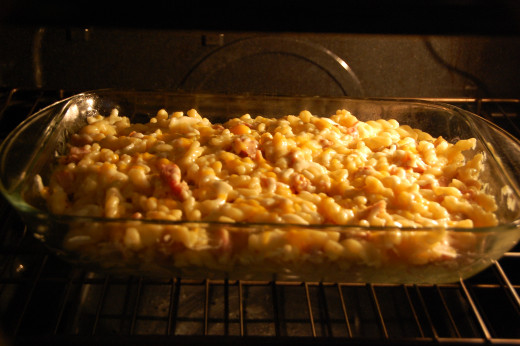 Bake uncovered in the oven for 20 minutes