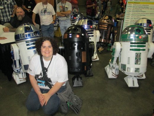 A Bunch of R2D2's at Stan Lee's Comikaze