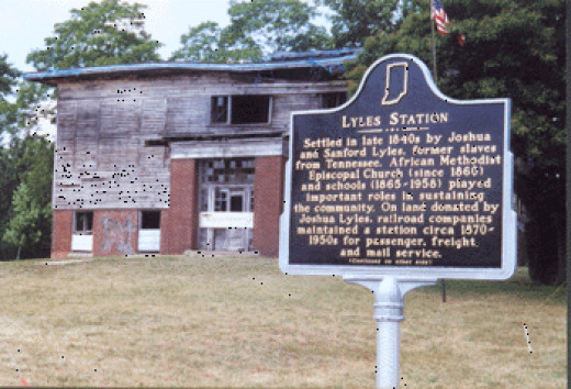 Lyles Station School before restoration
