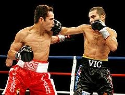 Nonito Donaire fought Vic Darchinyan twice wining both bouts by knockout. Donaire has one punch knockout power especially in his devastating left hook.