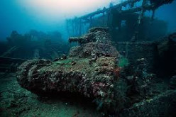 Scuba & Wreck Diving In Truk Lagoon, Chuuk, on Atol & Islands Whilst on Vacation to The Carolina Islands