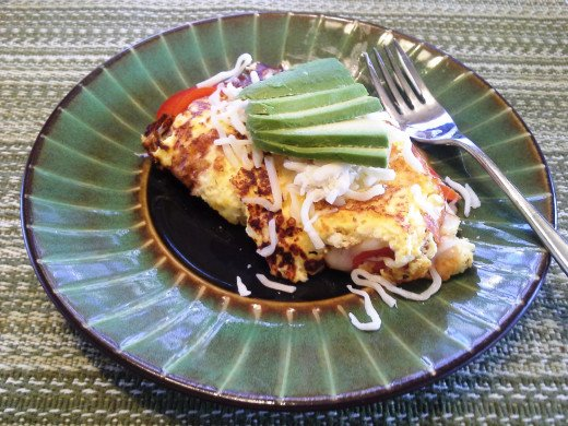 Easy Peasy Cheese and Vegetable Omelette