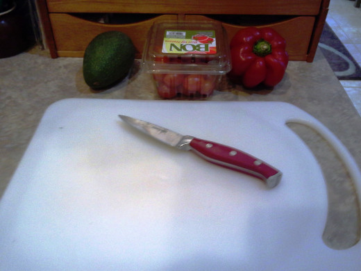 Step One: Prepare your veggies to chop