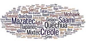 Languages in danger of becoming extinct