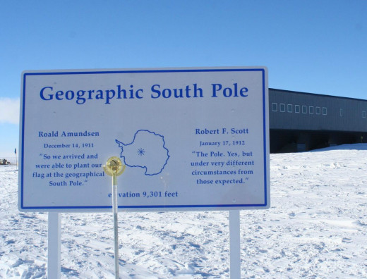 The Geographic South Pole In Antarctica.