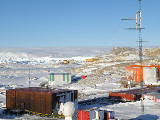 Vostok Station, The Russian Research Center In Antarctica.