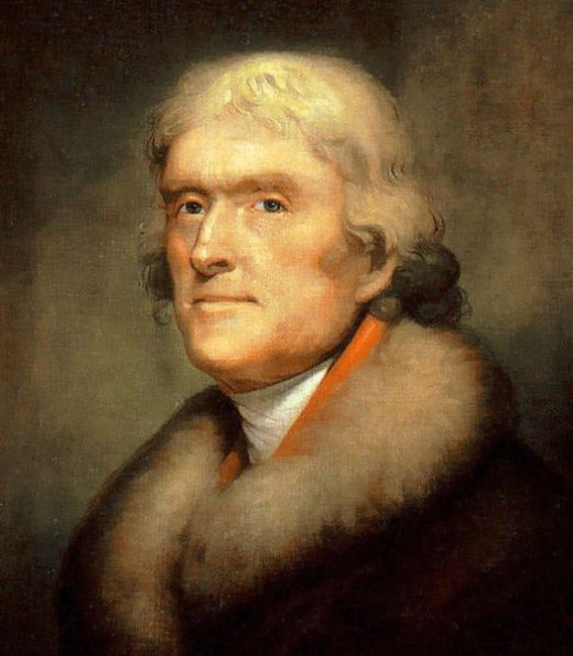 Portrait of President Thomas Jefferson by Rembrandt Peale, 1805