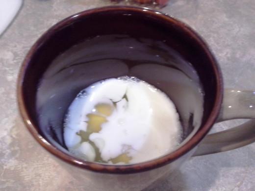 Step Nine: Add your milk