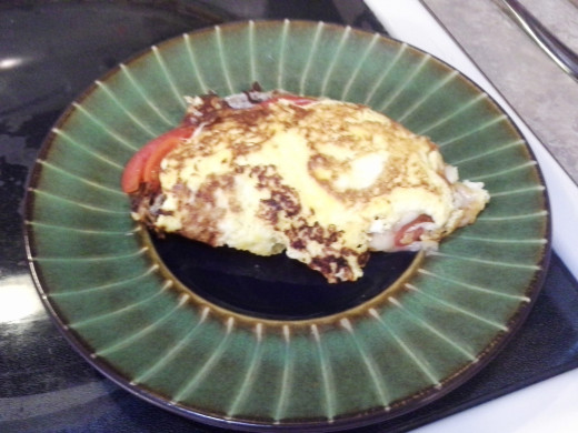 Step Twenty: Transfer your omelette to a plate